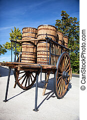 wooden wagon to transport casks