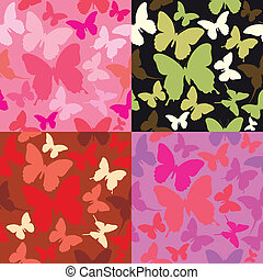 backgrounds with butterflies siluet - abstract backgrounds...