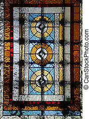 ablak,  stained-glass, templom