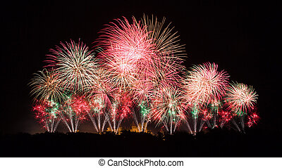 Fireworks on Carcassonne festival of 14 july 2012