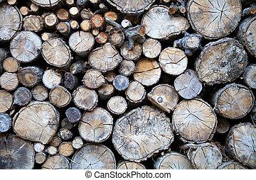 de madera, troncos