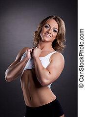 Beauty athletic woman portrait