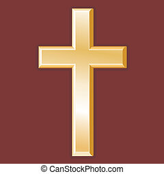 Christianity Symbol, Golden Cross - Golden cross, symbol of...