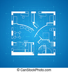 Blueprint abstract - Abstract blueprint background in blue...