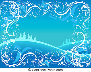 Winter ornate background