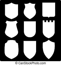 Shields - Set of various shields. Vector Illustration.