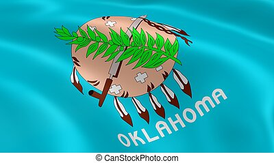 Oklahoman flag in the wind. Part of a series.