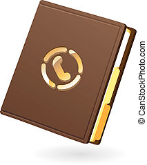Icon of notebook - Icon of brown notebook Vector...