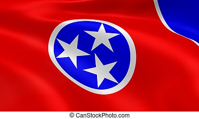 Tennessean flag in the wind