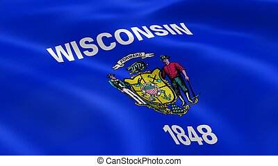 Wisconsinite flag in the wind