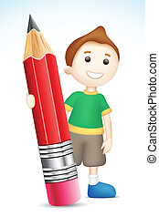BOy holding Pencil