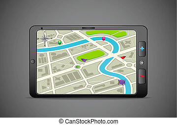 GPS Instrument - illustration of GPS instrument showing...