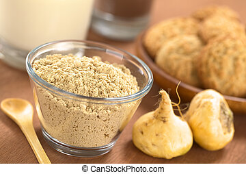 Maca Powder - Powdered Maca or Peruvian ginseng lat Lepidium...