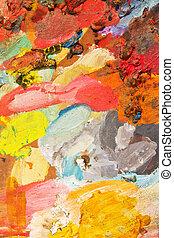 oil paint  - palette with oil paint