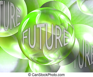Crystal Ball Showing the Future - Look into the crystal ball...
