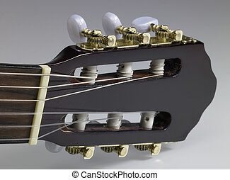 acoustic guitar headstock - headstock of a classic guitar