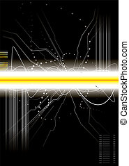 burst circuit - Technical background illustration with copy...