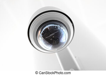 Security Camera Globe - Modern security camera globe inside...