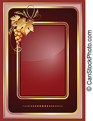 Background with vine ornament - Background with golden vine...