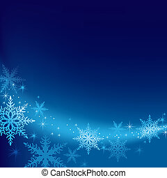Blue Xmas Background - Christmas Illustration, Vector