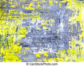Grey and Yellow Abstract Art