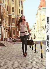 Young Woman on the Urban Street