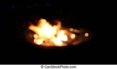 Wood Burning in Outdoor Fire Pit