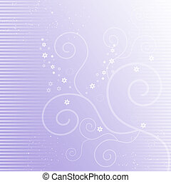 Lilac background with flourishes - Beautiful lilac...