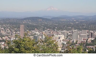 Portland Oregon Downtown Landscape - Urban Scenic of...