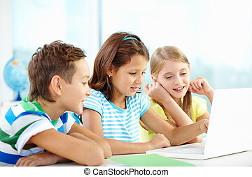 Learners studying - Portrait of happy classmates at...
