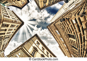 Geometric shapes of Typical Buildings in Tuscany