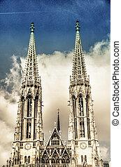 Votive Church twin towers in Vienna - Austria