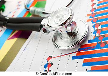 estetoscopio, Estadística, gráfico
