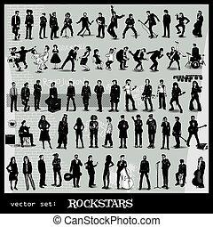 vector set of rockstars