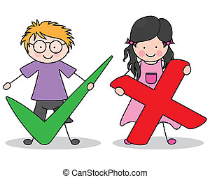 Children with signs of accepting and rejecting