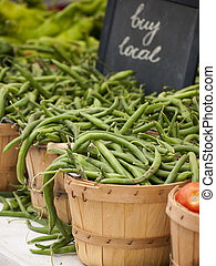 Green Beans - Green beans peppers at the local farmer's...