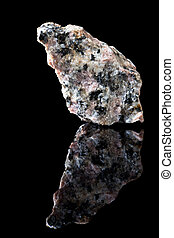 Granite mineral rock - Unpolished specimen of granite rock...