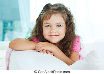 Cutie - Portrait of lovely girl looking at camera