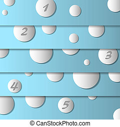 Vector design template with circles