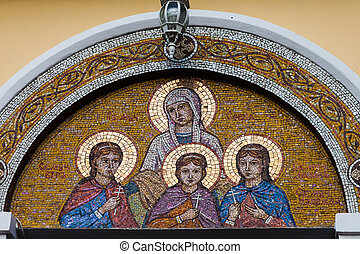 Mosaic Faith, Hope, Love and Sophia Temple of Faith, Hope,...