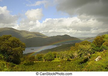 Molly's Gap (Ireland) - A beautiful scenic view on the lakes...