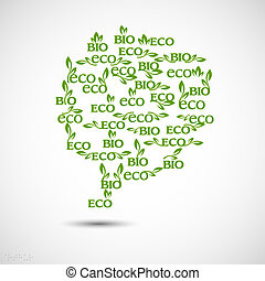 Big speech bubble made from Eco-icons