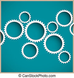 Abstract gear wheels. Vector design template