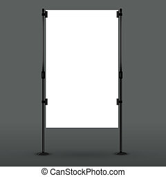 Blank roll up banner display Vector eps10