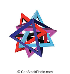 abstract 3-D figure on a white background