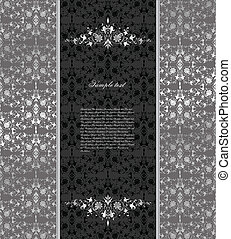 Floral seamless silver background. Vector