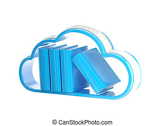 Cloud technology database icon isolated - Cloud technology...