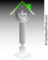 House key real estate business vector illustration