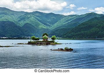 Gazebo in the lake