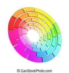 Color range spectrum circle round palette isolated - Twisted...